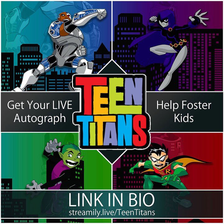 This weekend @kharypayton @GregCipes @scottmenville will be signing LIVE on our instagrams benefiting @TogetherWeRise purchase prints here for us to personalize while you watch & #AMA streamily.live/teentitans