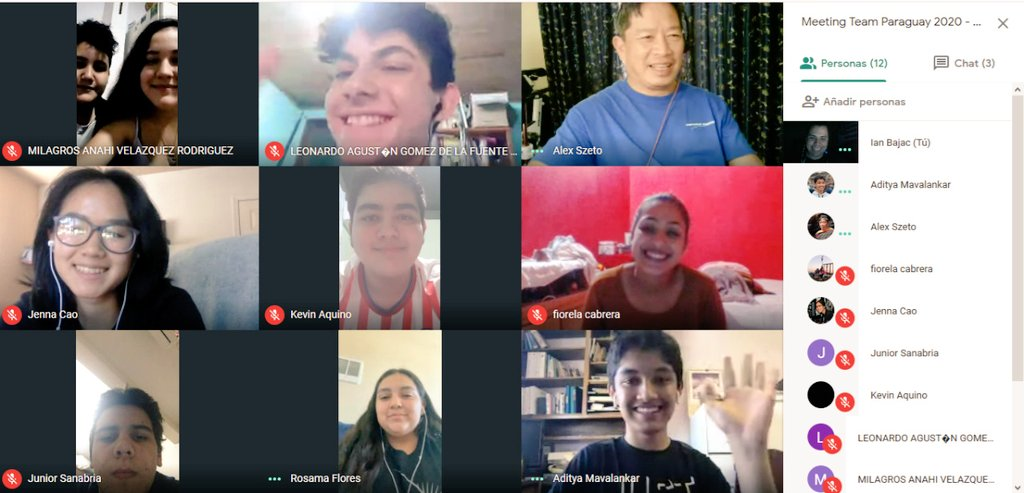 """We had an excellent videoconference with @Team1622 and Team Inspiration!!! We learned a lot, some doubts were clarified for us, thank you, thank you, thank you💪🇵🇾🐊...🌌🌉🏛️🎇🌆 """"The sky is our limits"""" @F1RSTglobal #STEM #FGC2020CC #TeamParaguay https://t.co/p3FZYfhQ3N"""