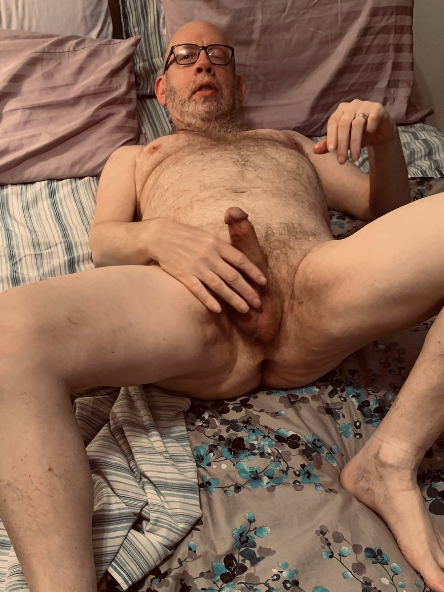 Follower Submission Bald hairy daddy enjoys showing himself naked