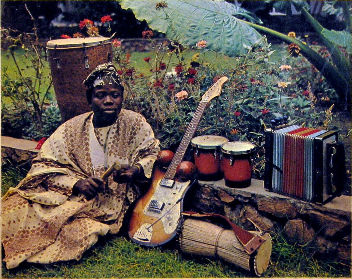 """JamesWhetzel on Twitter: """"I.K. Dairo, legendary star of Nigerian Jùjú music of the 60s. The style of Palm wine guitar/ highlife using parallel sixths that I learned from him is a central"""