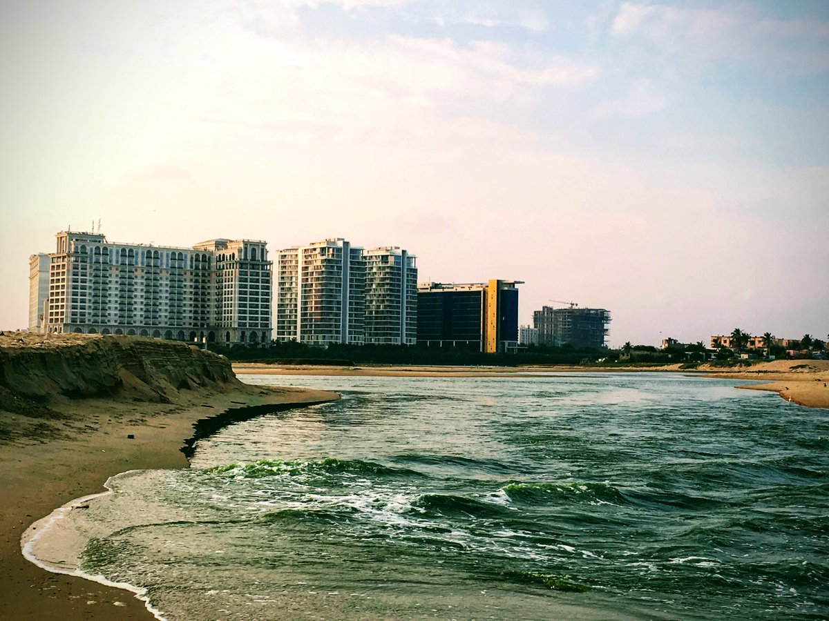 Beauty of Chennai where #adyar #river meets the #ocean  pic.twitter.com/zQNYK67BFb
