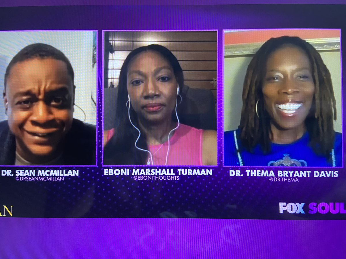 Great time sharing tonight on @foxsoultv with @DrSeanMcMillan and @ebonithoughts https://t.co/w8tsejNHjG