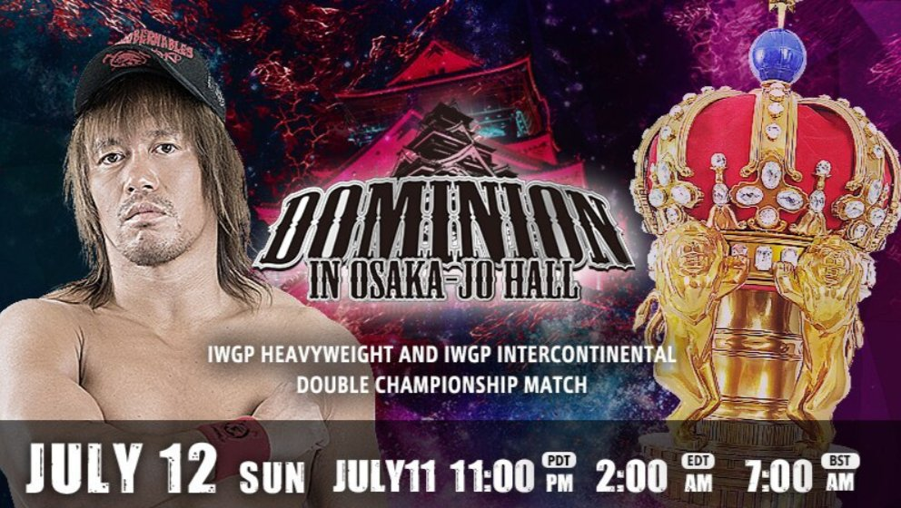 Revelado o evento principal do NJPW Dominion in Osaka-Jo Hall