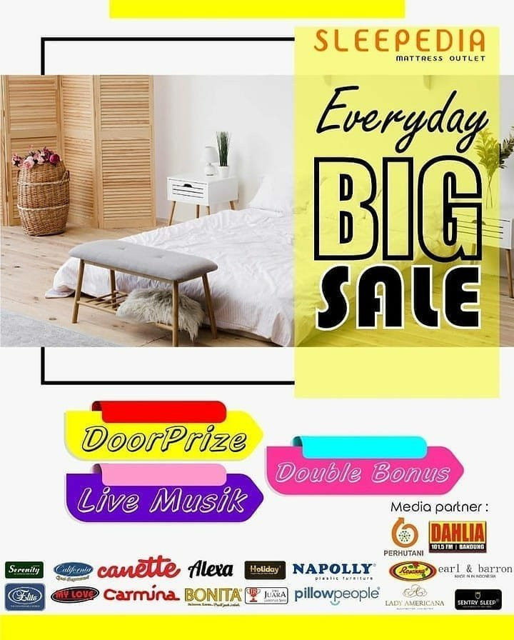 Everyday is big sale only at @hilon_sleepedia   Dapatkan penawaran menarik dari berbagai macam brand ternama. Jangan sampai kehabisan!! .  #1015dahliafm #radio #bandung #sleepdiaofficialstore #sleepediamattressoutlet #bigsale  https://t.co/ee5aF72NLg