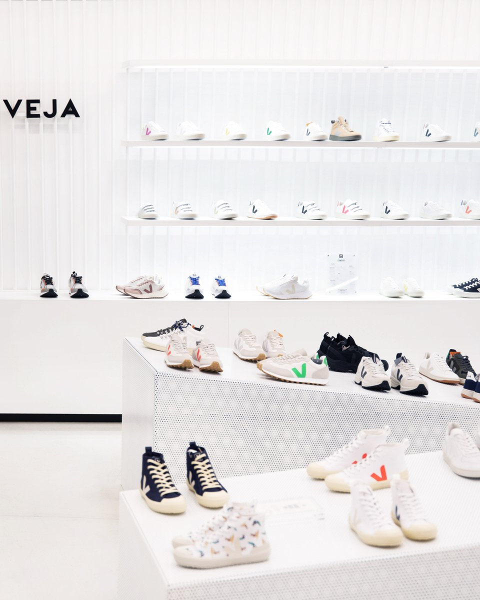 """NEW OPENING AT CITADIUM  Back in 2005, @citadium in Paris was one the 1st department store to welcome VEJA. This partnership has grown stronger over time, and they asked us to develop a new unisex corner on the 3rd floor, the """"big guys"""" floor.   #veja #vejafamily https://t.co/0pipQ5PEQc"""
