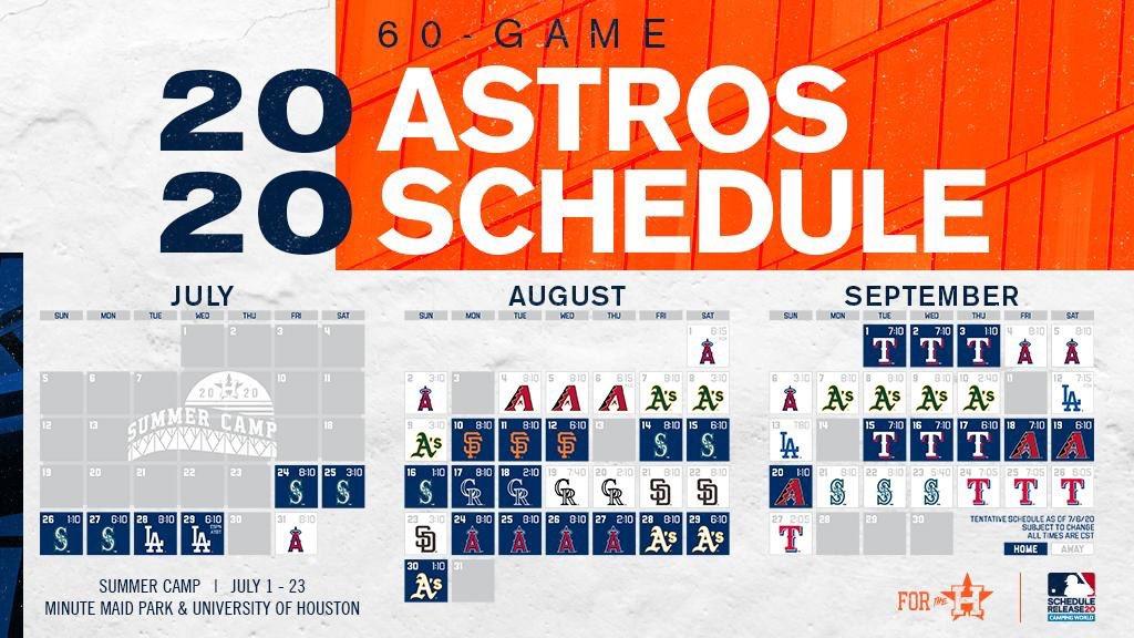 Rol de Juegos de @LosAstros ...Temporada 2020 https://t.co/JpAEkzq6dc