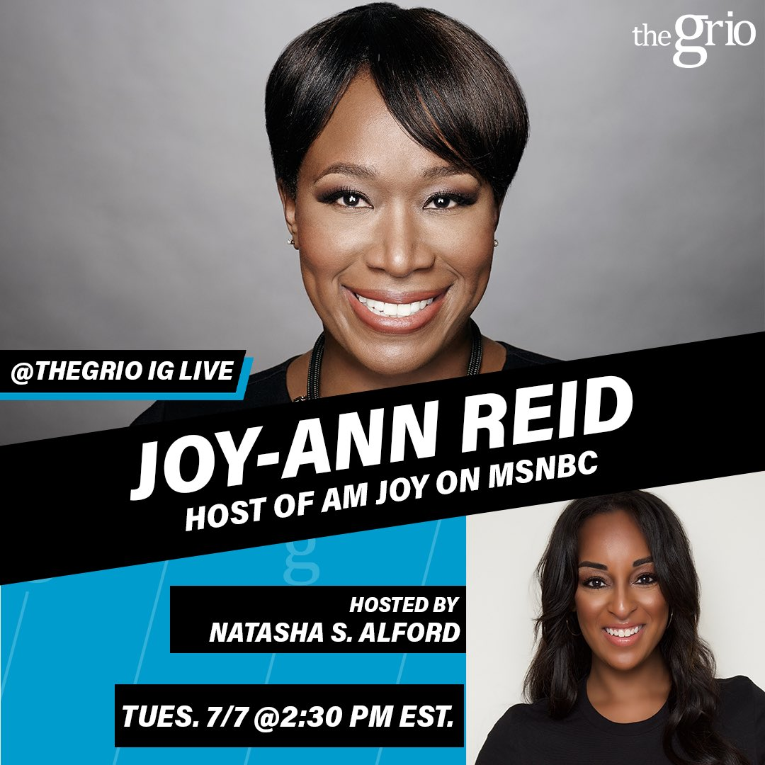 Tuesday plans: joining @theGrio IG LIVE with the fabulous @NatashaSAlford !! And then another round on @MSNBC at 7pm ET. See you all tomorrow! 😷🤓😎 https://t.co/nnWN6LzxlE