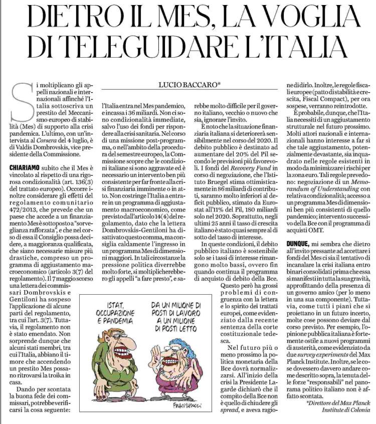 L'essenziale da sapere per dire No al MES in un articolo di @luciobaccaro https://t.co/zrr2mQj6gE