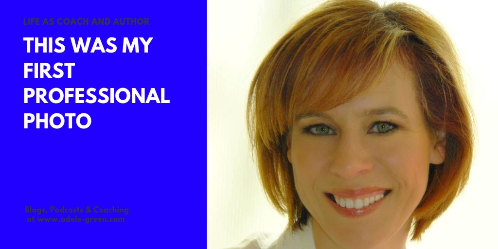 Putting yourself out there takes courage. This was my very first professional pic. Note the copper hair. Classic golden oldies. Back then I was a mom with two tiny boys. 😇 #lifecoach #lifecoaching #onlinecoach #femalecoach #selfie #photo #author