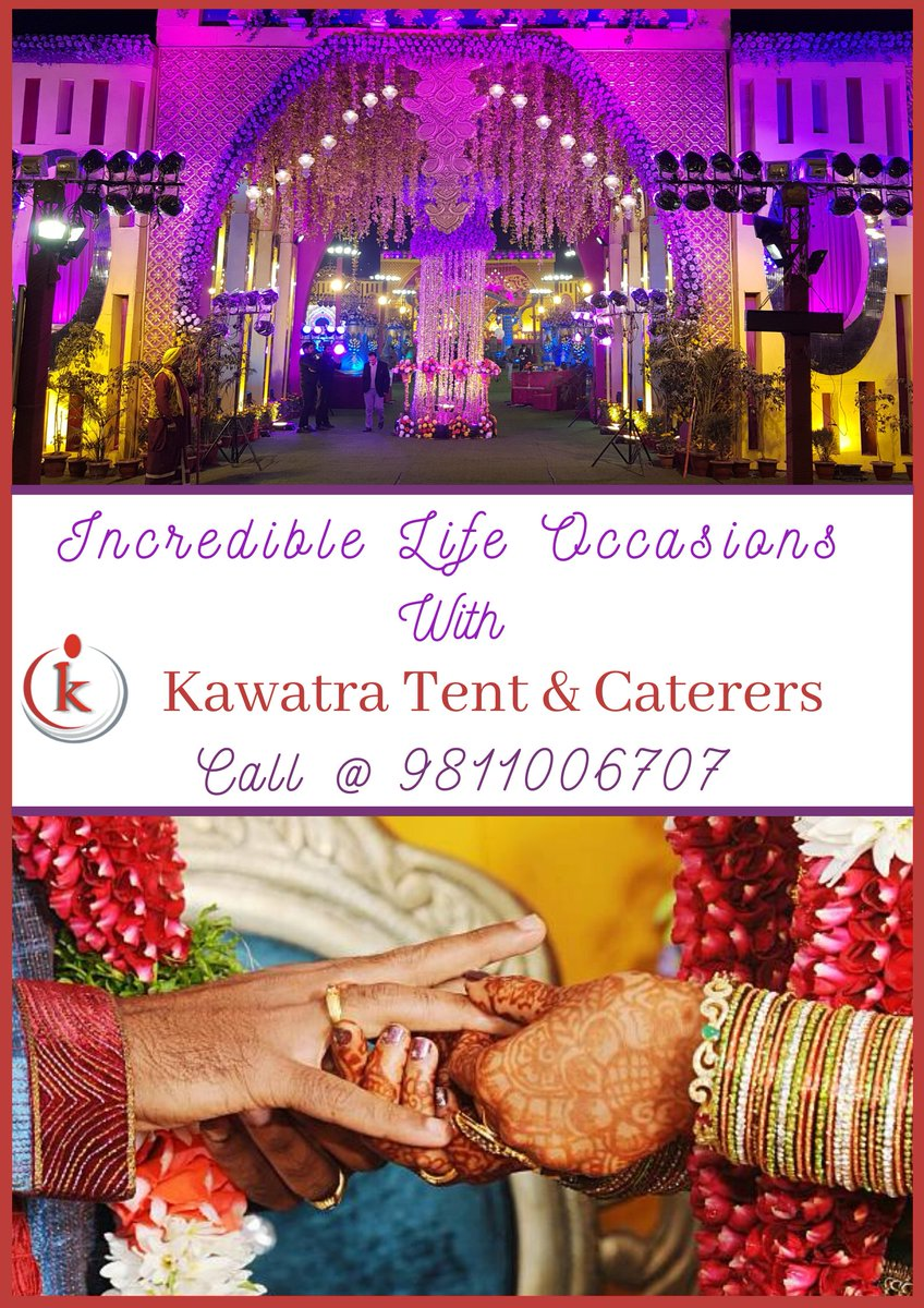 Incredible Life Occasions with Kawatra Tent & Caterers - Tent renting, Catering Services & Deluxe Tent Rental Service Provider from Delhi, India. Book now:  #kawatratent #weddingplanner #wedding #weddingday #weddinginspiration #bride #eventplanner #wedding