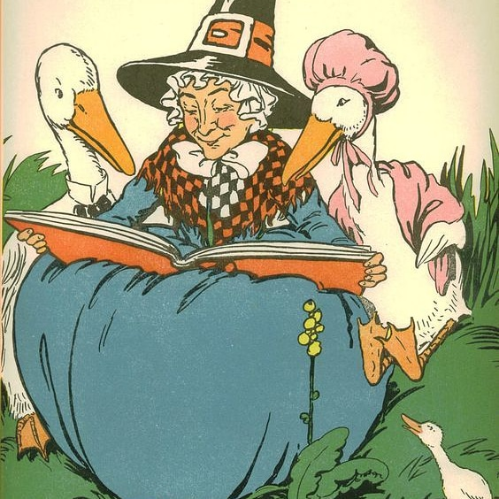 Old Mother Goose is said to be a modern descendant of the ancient Germanic goddess Holda (or Holle). Holda was said to be able to turn into a goose and fly surrounded with the souls of the dead and witches who could magically tranform themselves into geese. #FairyTaleTuesday pic.twitter.com/sGqkq9q4UP