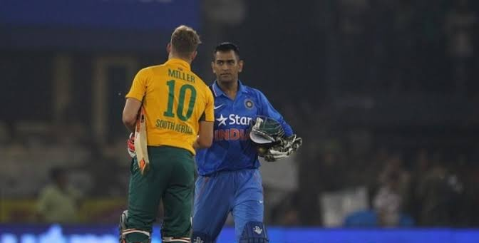 """""""MS Dhoni is the best finisher right now in world cricket. I look up to him and try to learn."""" ~ David Miller #HappyBirthdayDhoni https://t.co/ILjMvyia48"""