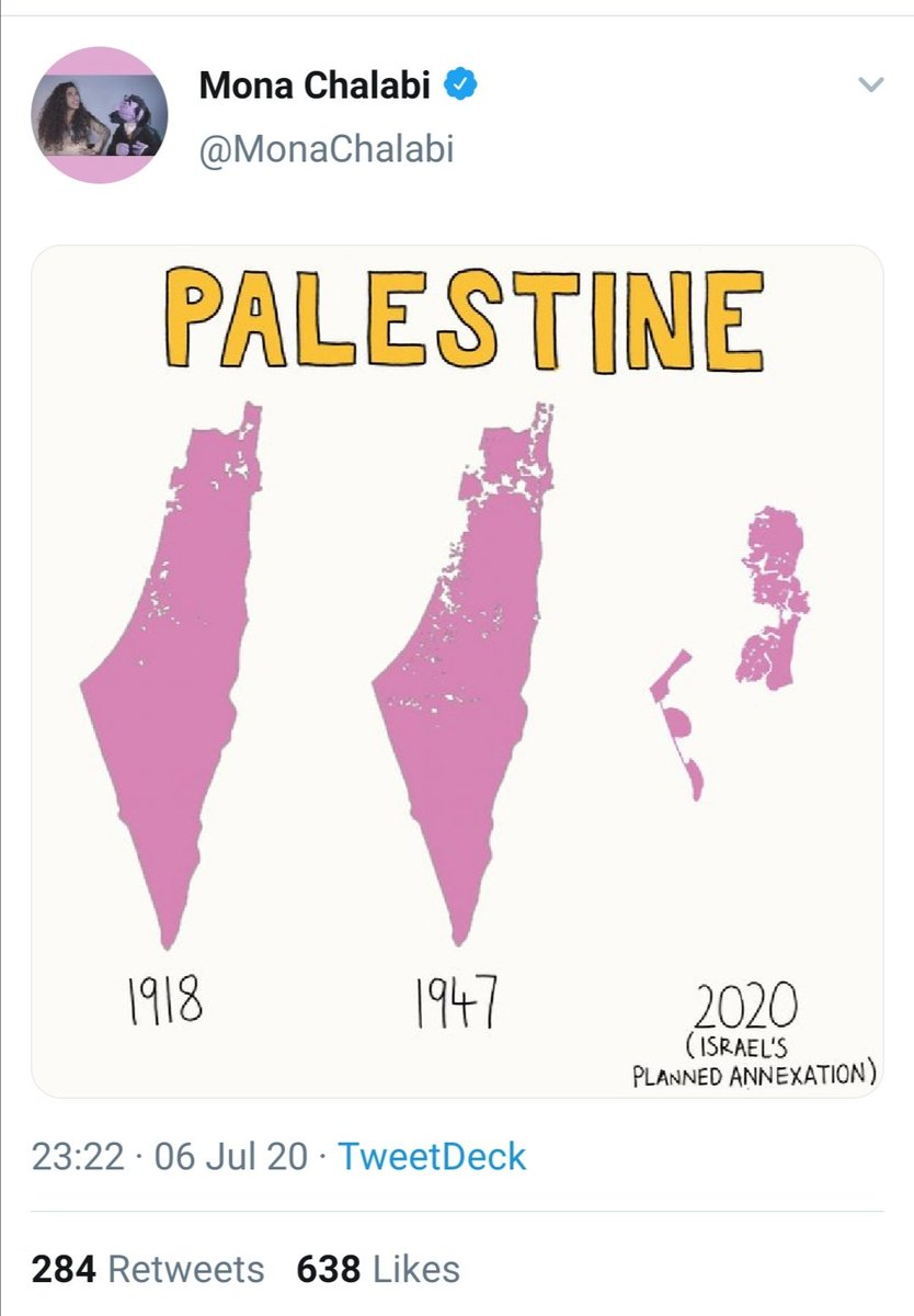 This vile post was made by @MonaChalabi - who actually works for the #Guardian. She posted it on both #Twitter and #Instagram. A more abusive post you will rarely see. I want you to look closely at the first two maps.... 1/5 pic.twitter.com/x9ozM59LHQ
