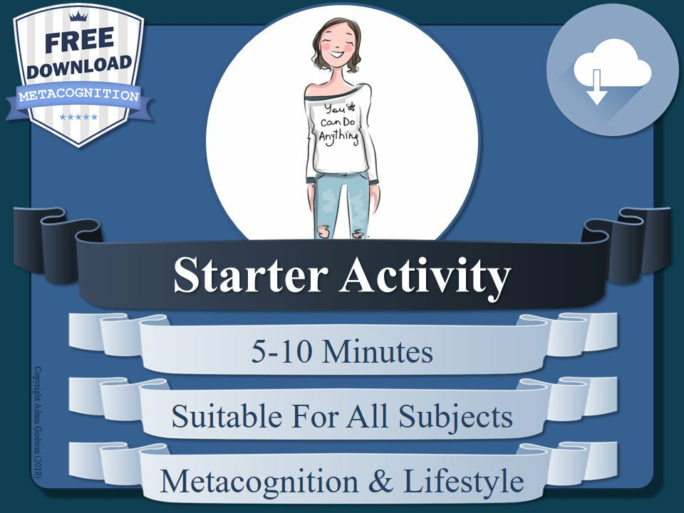 Free #metacognition starter activity for your lessons today! Please share before you download! https://t.co/ImpM2Ixgdx #growthmindset #learningpower #wholeschool #NQTchat #Tes #k12 #lessonplan #lessonplans #literacy #edtechchat #teach #pgce #learning #selfreflection #education https://t.co/QnkYeWl9Ce