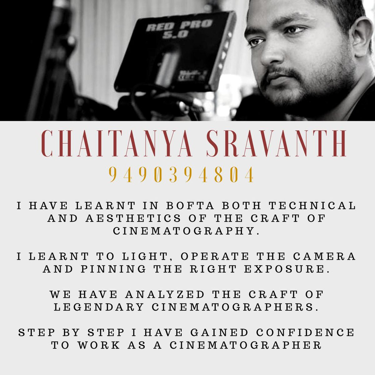 A Student Point of View of BOFTA film institute on line classes we had conducted for current batch. Online live interactive classes for new batch cinematography course starts August 2020. Learn with Master Cinematographers. Admissions contact: 9003078000/9003079000