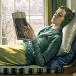 Image for the Tweet beginning: Girl Reading, Harold Knight, 1932.