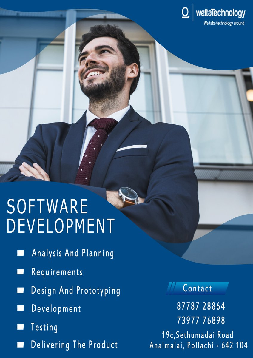 Our team of software developers will assist you in the software development process, understanding your requirement, developing software, successful installation and after delivery support.  Contact         : 87787 28864 (or) 73977 76898 Our Website :  http://www. wettatech.com /   <br>http://pic.twitter.com/qVKpZoyrTy