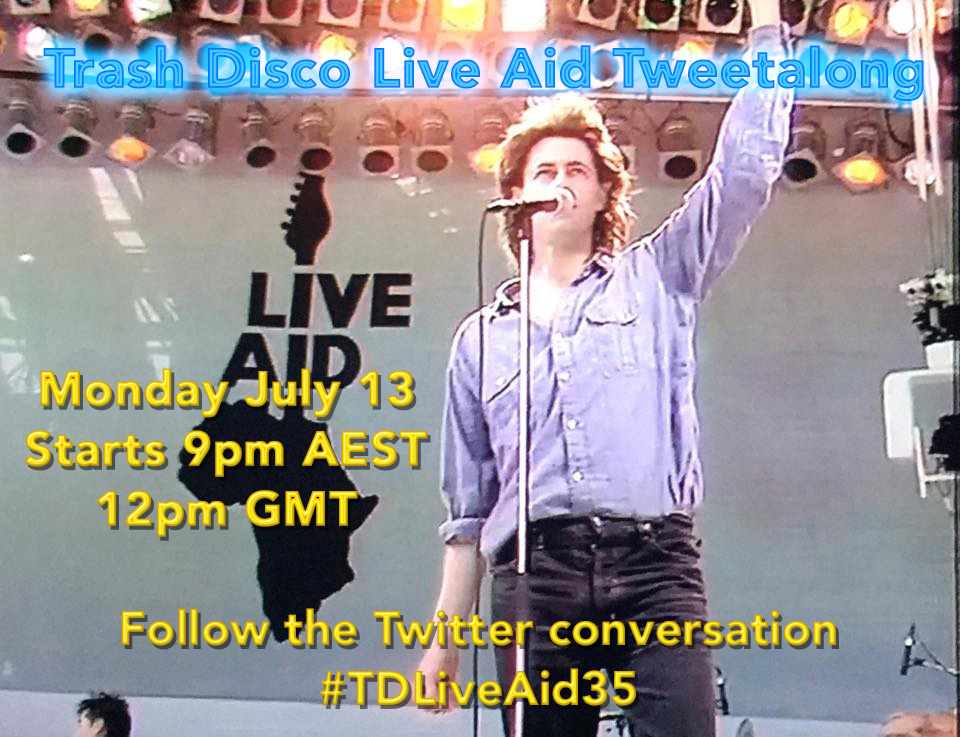Next Monday July 13  is #LiveAid day! It's 35 years since the greatest show on earth and we'll be celebrating by reliving the concert in real time - we'll tweet the songs as they're performed. Join the conversation by including #TDLiveAid35 in your tweetspic.twitter.com/gHs9MO4Agn