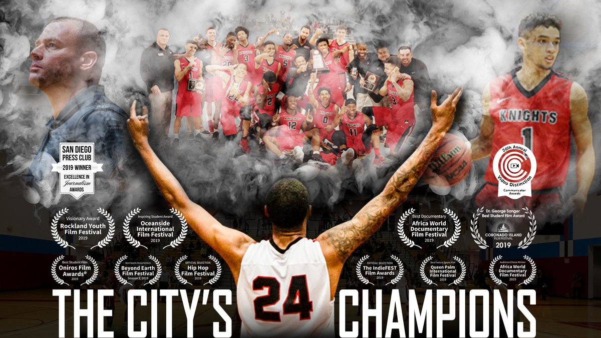 "📽️ After a year in the film festival circuit, my first documentary film, ""The City's Champions"" is now available to watch online!!! 🏀 #SanDiego #Basketball   Huge thanks to my pals, professors, & coaches @sdcitycollege for all the support! 🎞️#SportsFilms  https://t.co/wvpHHC79Vw https://t.co/UK7WBandL9"