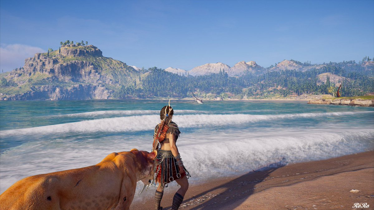 Water, fun & sun with my new Lioness   Game: #AssassinsCreedOdyssey   Developer: @Ubisoft    #VGPUnite #VirtualPhotography  #Gametography #TheCapturedCollective   #GamerGram #VPInspire #vpgamers #Ksnapshots #valortainment #ArtisticofSociety #PCGaming #ThePhotoModepic.twitter.com/GA98kYWhVx