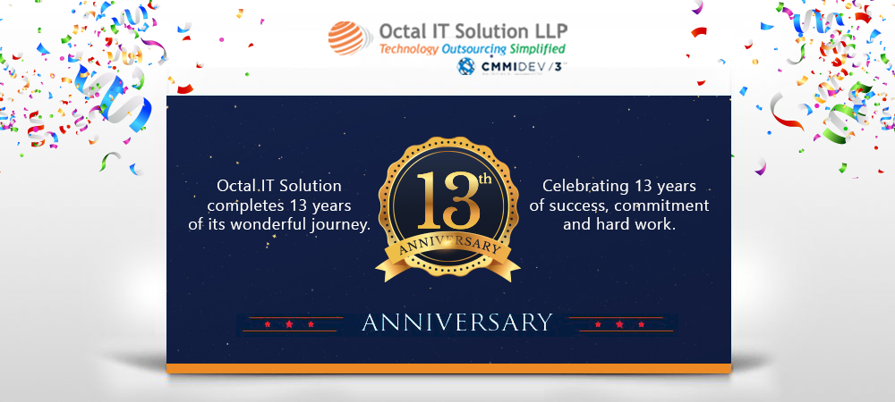 On this day in 2007, we started a journey that marks its 13th anniversary today. Join us to celebrate a wonderful journey of success, commitment and hard work. On this auspicious day, we thank everyone who believed in us and helped us grow.   #OctalITSolution #13thAnniversarypic.twitter.com/5gq8XNqSWR