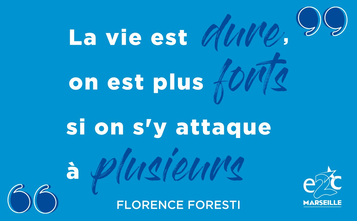 [#Mardiconseil] 💬 . « La vie est dure, on est plus fort si on s'y attaque à plusieurs. » Florence FORESTI . . #hard #attack #lifeisgood #lifeisbeautiful #together #togetherisbetter #thoughtoftheday #workhard #conseil #vision #success #courage #encouragement #e2c #e2cmarseille https://t.co/NsOf9kcsoM