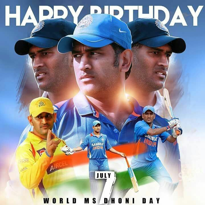 #MSDhonibirthday  #mahendrasinghdhoni  #Mahi  #HappyBirthdayMSDhoni  Happy birthday to you The Legend of Cricket one and only MS DHONI pic.twitter.com/nqXqbc44cS