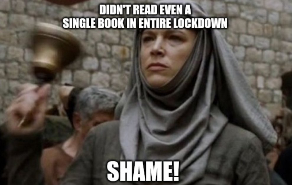 Introducing our new segment #Shame.  We will add posts which will funnily remind you of your undone reading duties, #Shame style.   You can share your #Shame suggestions to us and get featured.   #MEMES #GameOfThrones #TuesdayThoughts https://t.co/wl4eKNRtLk
