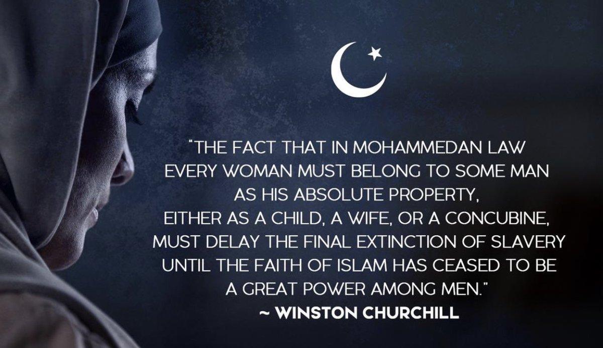 test Twitter Media - #WinstonChurchill wist het al... De #islam is de enige godsdienst die slavernij (van vrouwen) heeft geïnstitutionaliseerd. 'Wie slavernij wil afschaffen, zal de #islam moeten afschaffen.' Van een 'ongemakkelijke waarheid' gesproken... #BanIslam https://t.co/WUkApMKpBf