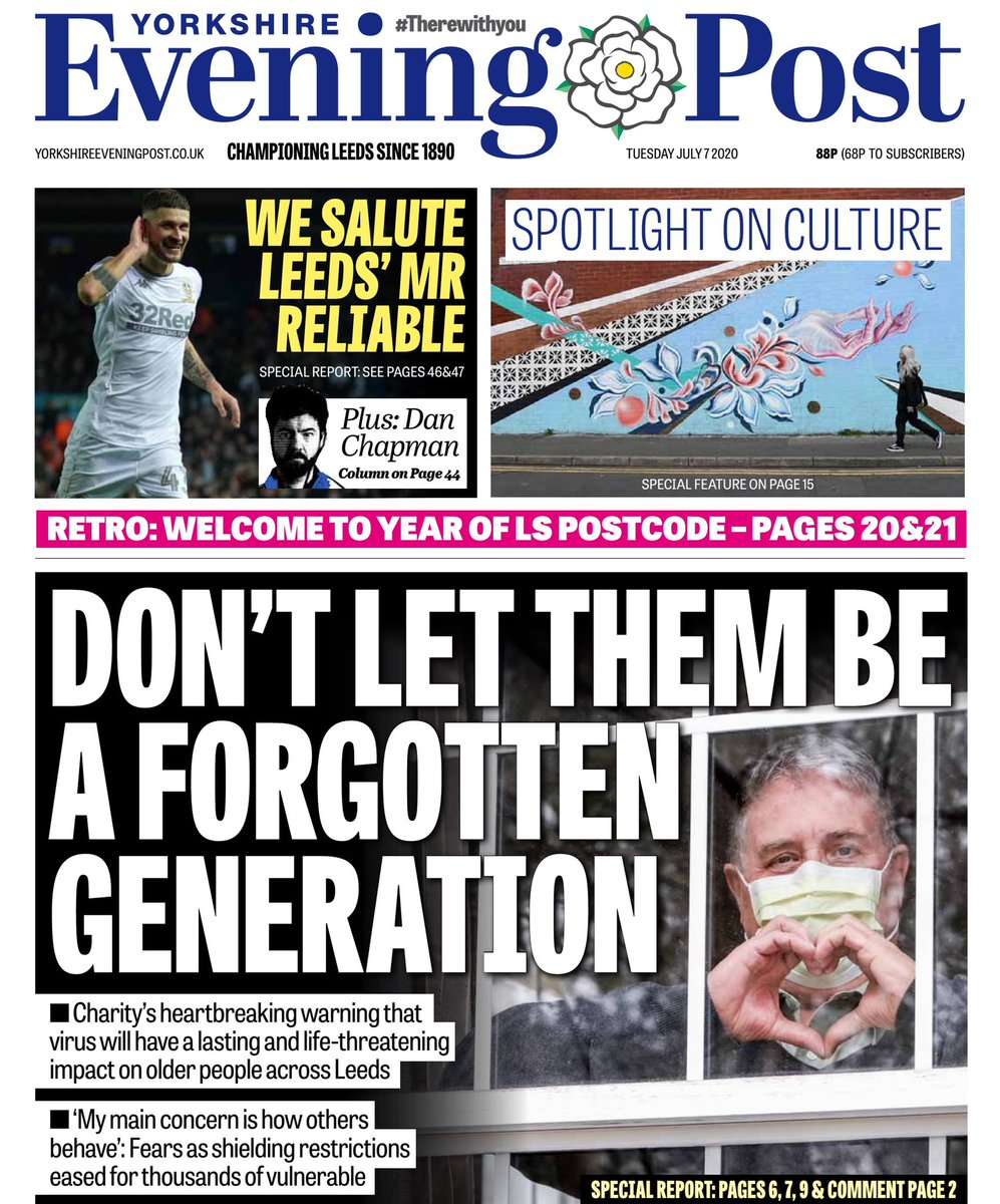 'Fear, isolation and suicidal thoughts': Charity volunteers from @AgeUKLeeds warn of the lasting and life threatening impact of the pandemic on the lives of older people in Leeds. A heartbreaking report from @RebeccaMaranoEP leading today's @LeedsNews yorkshireeveningpost.co.uk/news/people/fe…