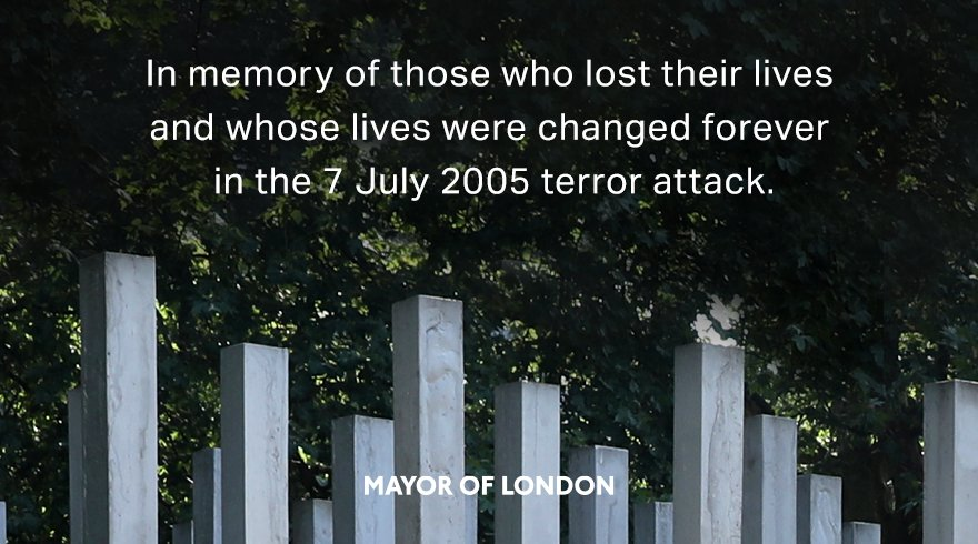 Today marks 15 years since the tragic 7/7 terror attacks in London. Our thoughts remain with all those affected that day. There will always be those who seek to divide us, but our city remains united in spirit. We will never be cowed by terrorism. #LondonBombings
