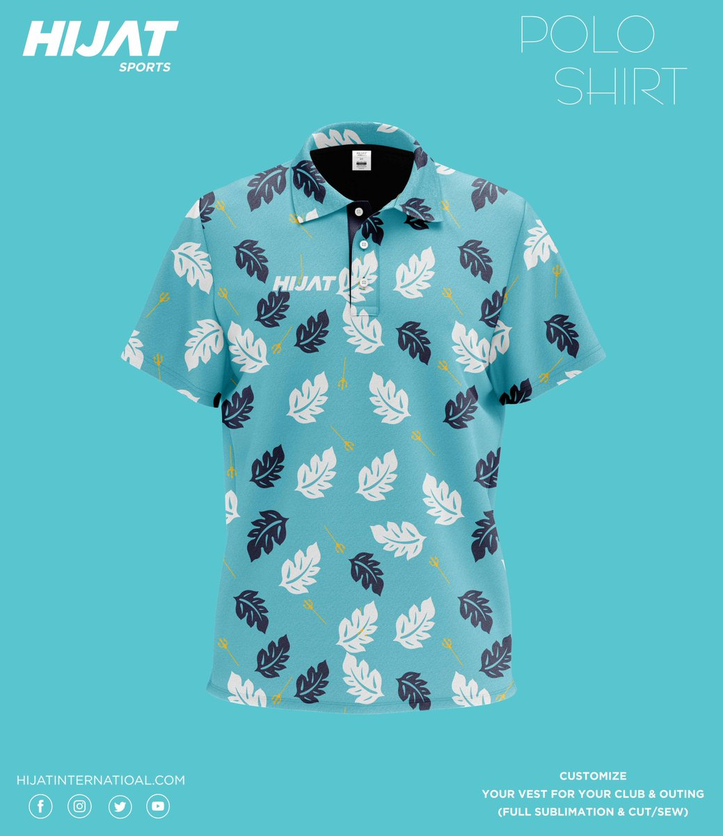 Hijat sports wears POLO SHIRT winter leaf fall. Available in all designs. DM for details. #hijatinternational  #summer #stayhome https://t.co/ozgvMayn9O