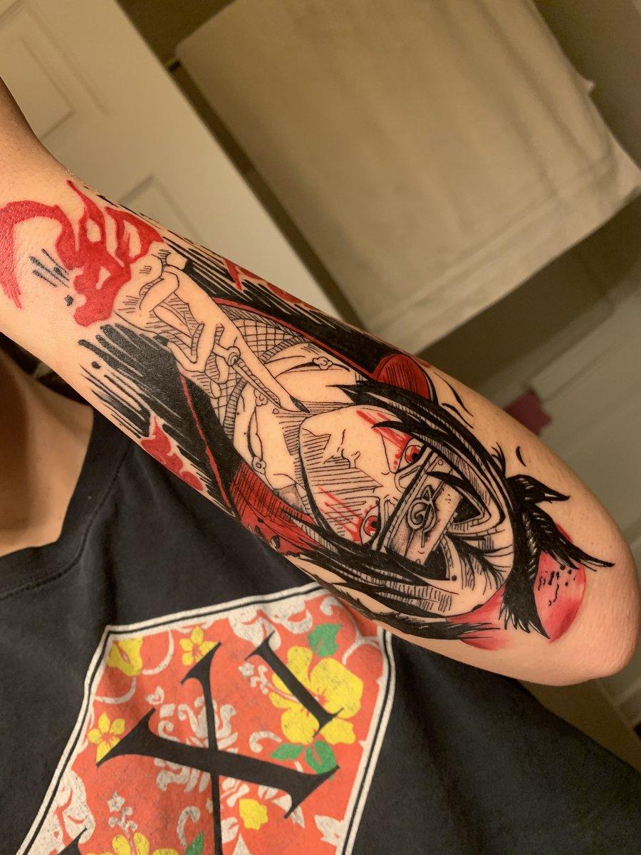 My itachi tattoo go crazyyyyy 🥰 https://t.co/1KvrFpcv4H