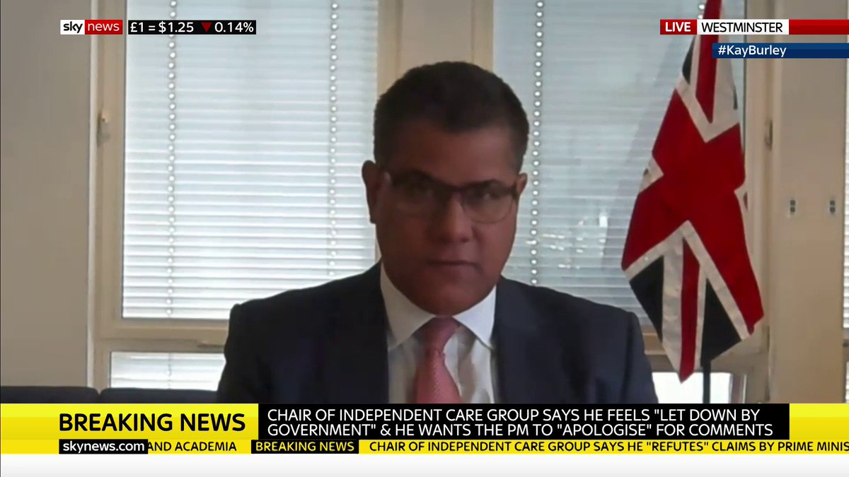 "#KayBurley presses Alok Sharma on whether he agrees with the prime minister's comments that care homes did not follow the correct procedure during #coronavirus.   The business secretary says ""no one can doubt"" Boris Johnson's support for the care sector.   https://trib.al/34ZxUno pic.twitter.com/mJbyZQ3Adt"