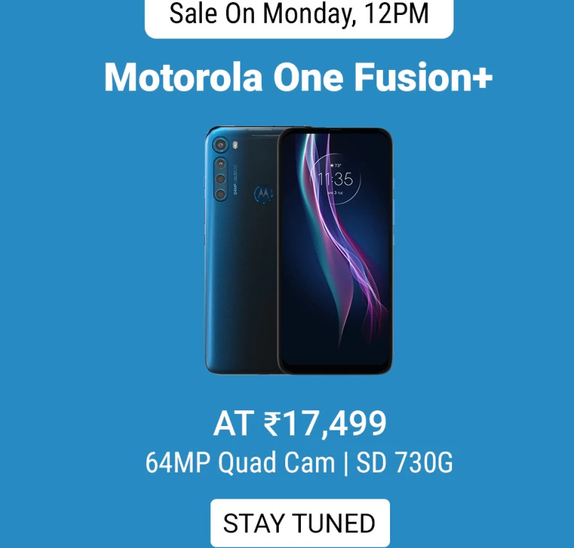 Motorola One Fusion+  price hike in Indiapic.twitter.com/MGSTgxFsY8