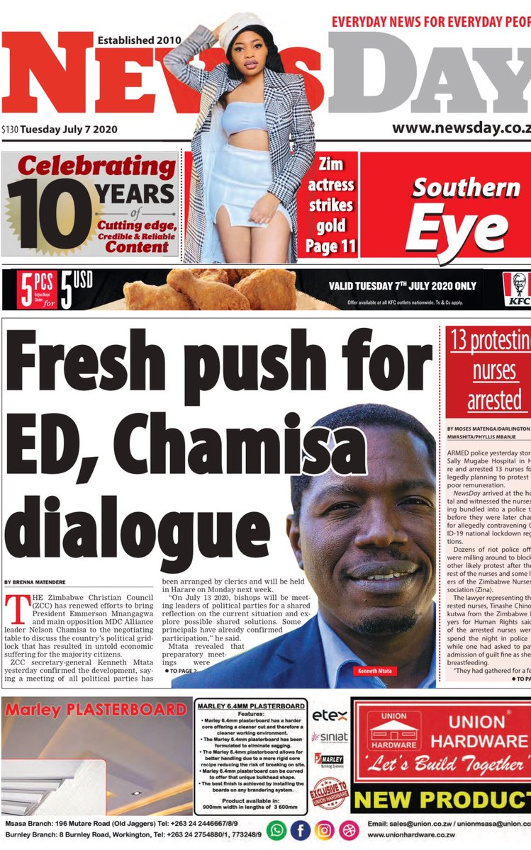 #FrontPages: Today's NewsDay pic.twitter.com/fLicEXkpLb