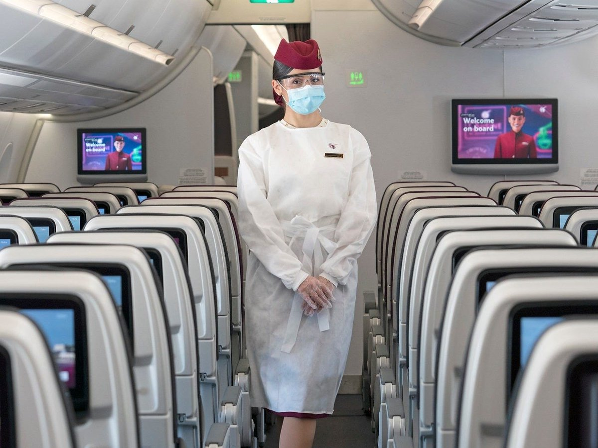 Passengers on Qatar Airways must now wear a face shield as well as a mask — except in business class | @BISouthAfrica   https://t.co/9RN63zplyO https://t.co/JRSPtWUNp2