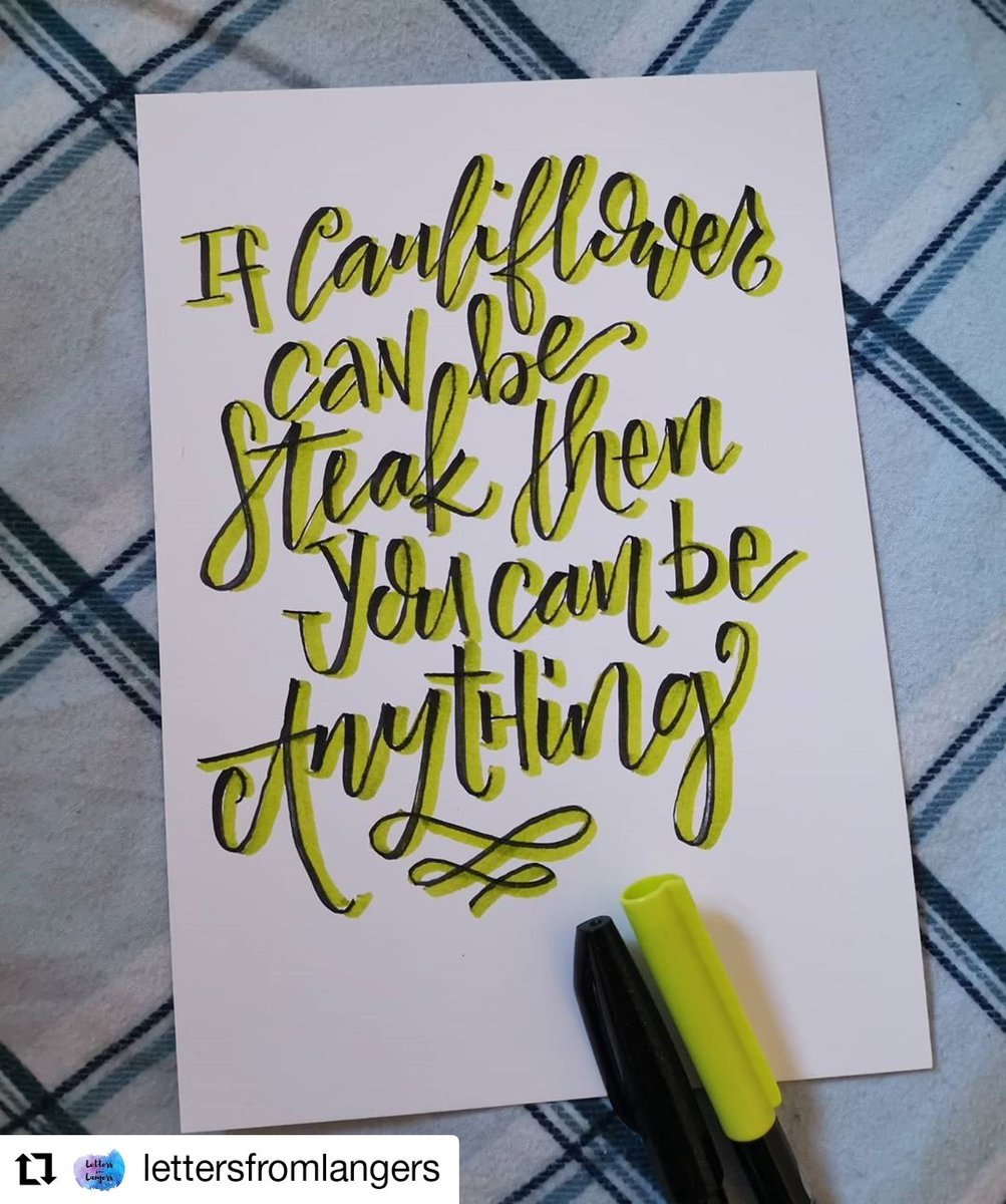 It's true, once vegetables can be steaks we can be anything we want to be! #lettering pic.twitter.com/Lx64ikZUCp