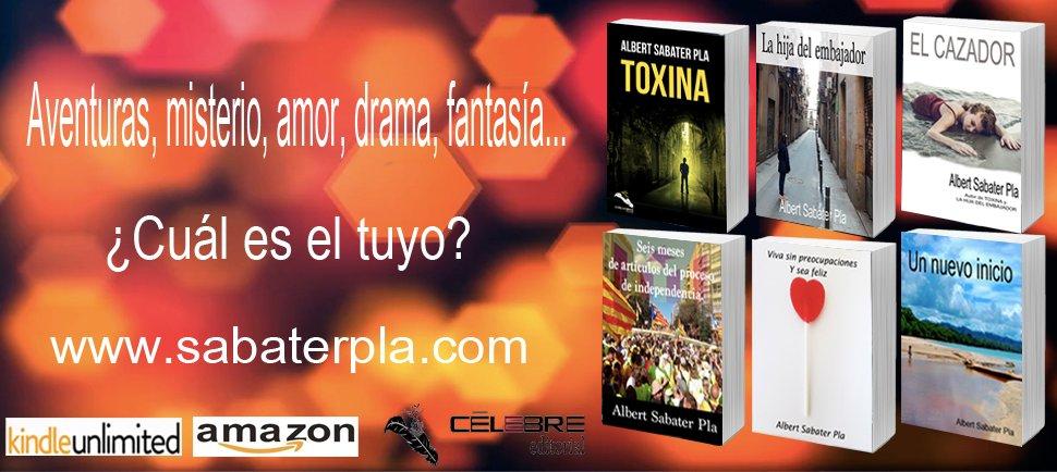 Novela Negra, aventuras, amor, drama, fantasía... Elige el tuyo aquí -> http://sabaterpla.com   #NovelaNegra #Yoleo #gratis #KindleUnlimited #kdp #RecomiendoLeer #Kindle #Lectura #leeresunrefugio #Libros #Buenosdias #leerenamazon #LecturaRecomendada #Verano2020 #Tendenciaspic.twitter.com/iUTToT5Kos