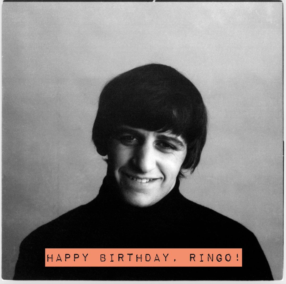 Happy Birthday, Ringo! https://t.co/ZtfmWIDrEM