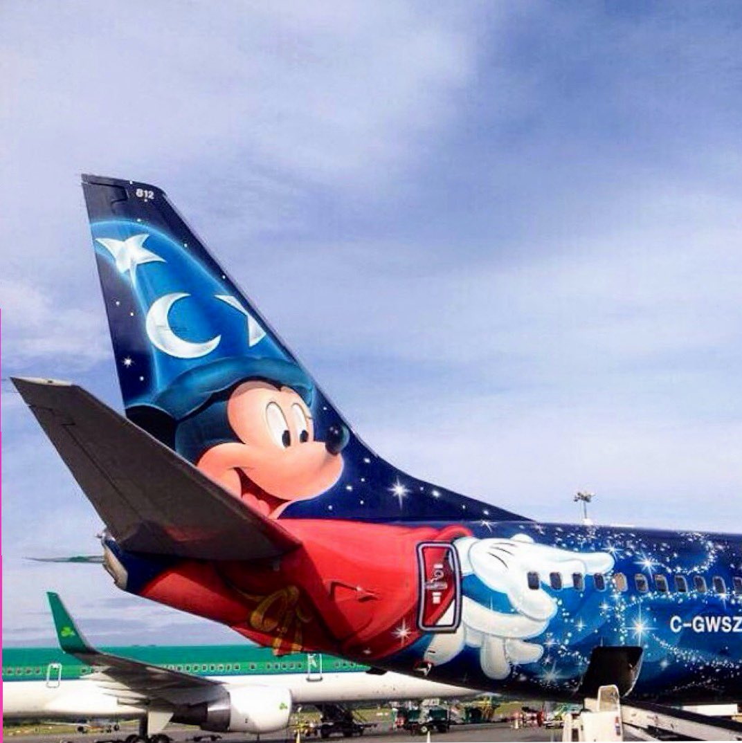 Throwback to this day 6 years ago. Westjet's Magic Plane at Dublin Airport. It took a team of 26 people 24 days working around the clock to paint the Magic Plane. The painting crew consumed more than 150 doughnuts over the 24 days 🍩 #FunFact https://t.co/1fm3EQuELU