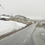 Image for the Tweet beginning: Farevarselet for snø i fjellet