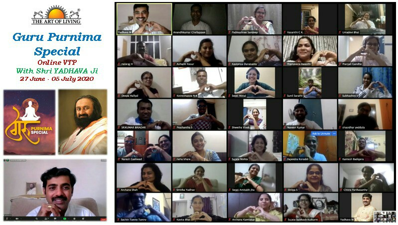 #GuruPurnima2020 Special Online #VTP concluded with 25 souls graduating on this auspicious day. These #warriors are now equipped with #knowledge and #skills on #Leadership, #teamwork and #Communication. @SriSri @ArtofLiving @TtpVtp  Next #Program : 15 to 23 Aug. Call : 9481160382 https://t.co/fSCzIavMPi
