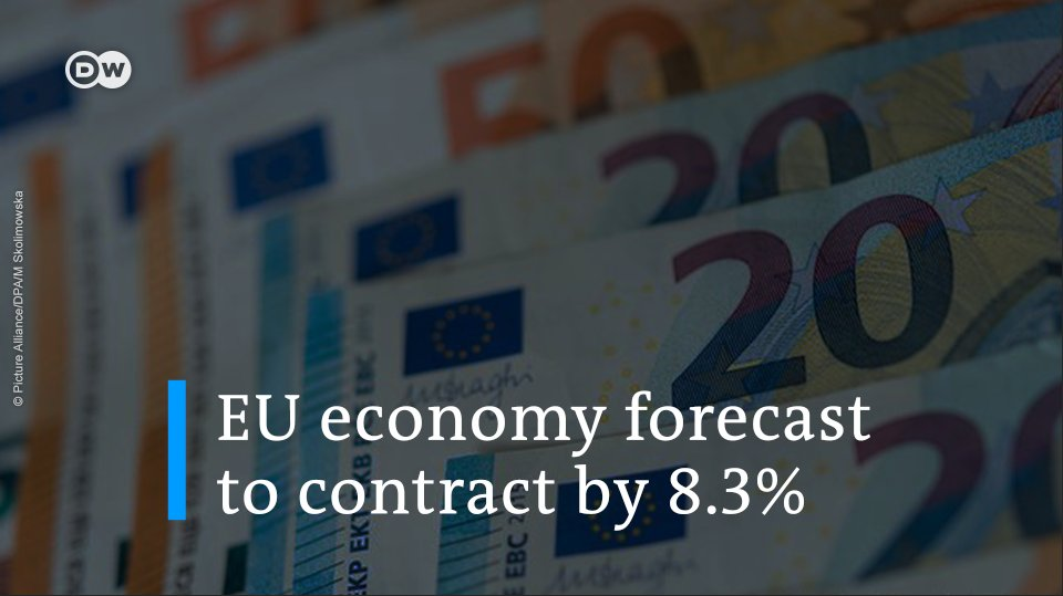 JUST IN: The EU economy is forecast to contract by 8.3% in 2020, according to the latest EU Commission figures. This comes as the EU experiences the deepest economic recession in its history.
