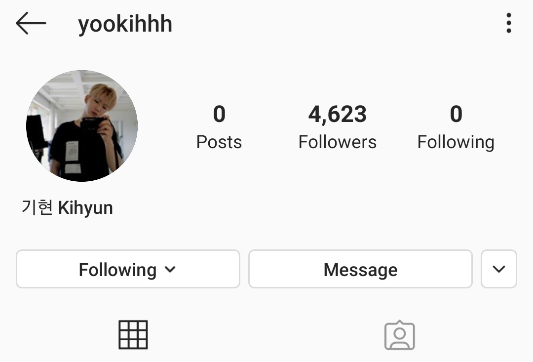 Kihyun now has Instagram. His username is: @/yookihhh Link to his profile: instagram.com/yookihhh?igshi… @OfficialMonstaX