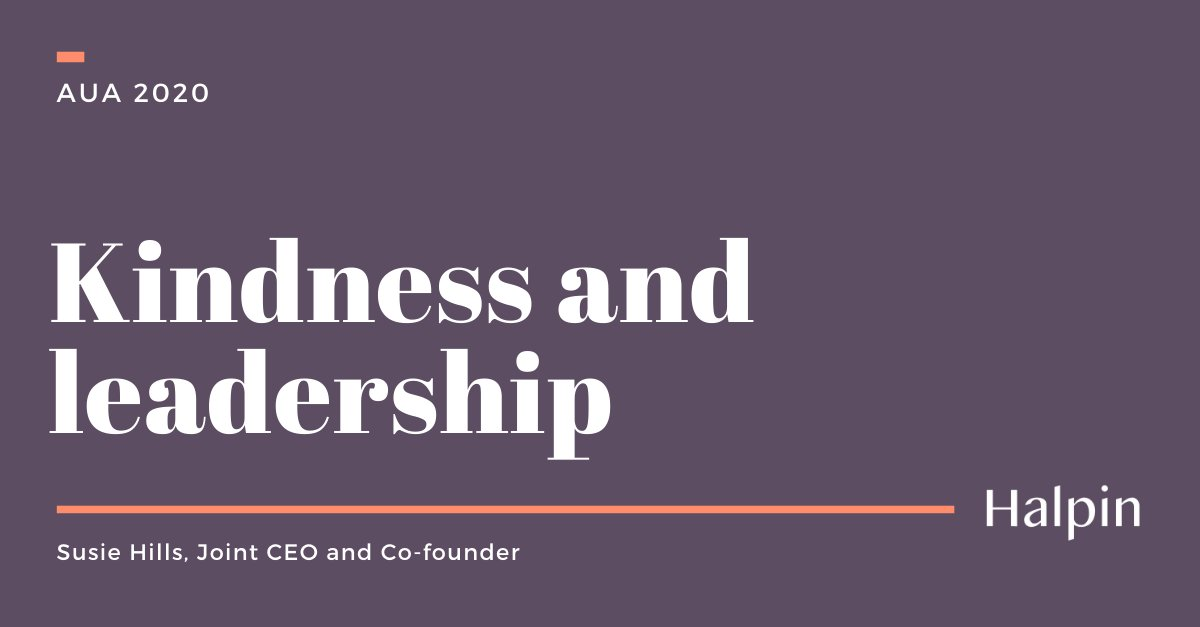 Joint CEO and kindness spotter @HillsSusie recently ran a webinar on #kindness in leadership for @The_AUA members. If you'd like to watch it you can do so here: https://t.co/aPBRvsl7d4 #TeamKind https://t.co/mdL5gRjUaN
