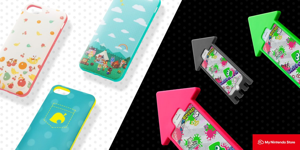 A range of #Splatoon2 and #AnimalCrossing iPhone cases, now compatible with the new iPhone SE, are available in limited supply on the #MyNintendo Store! Get them here: bit.ly/2ZRjo7w