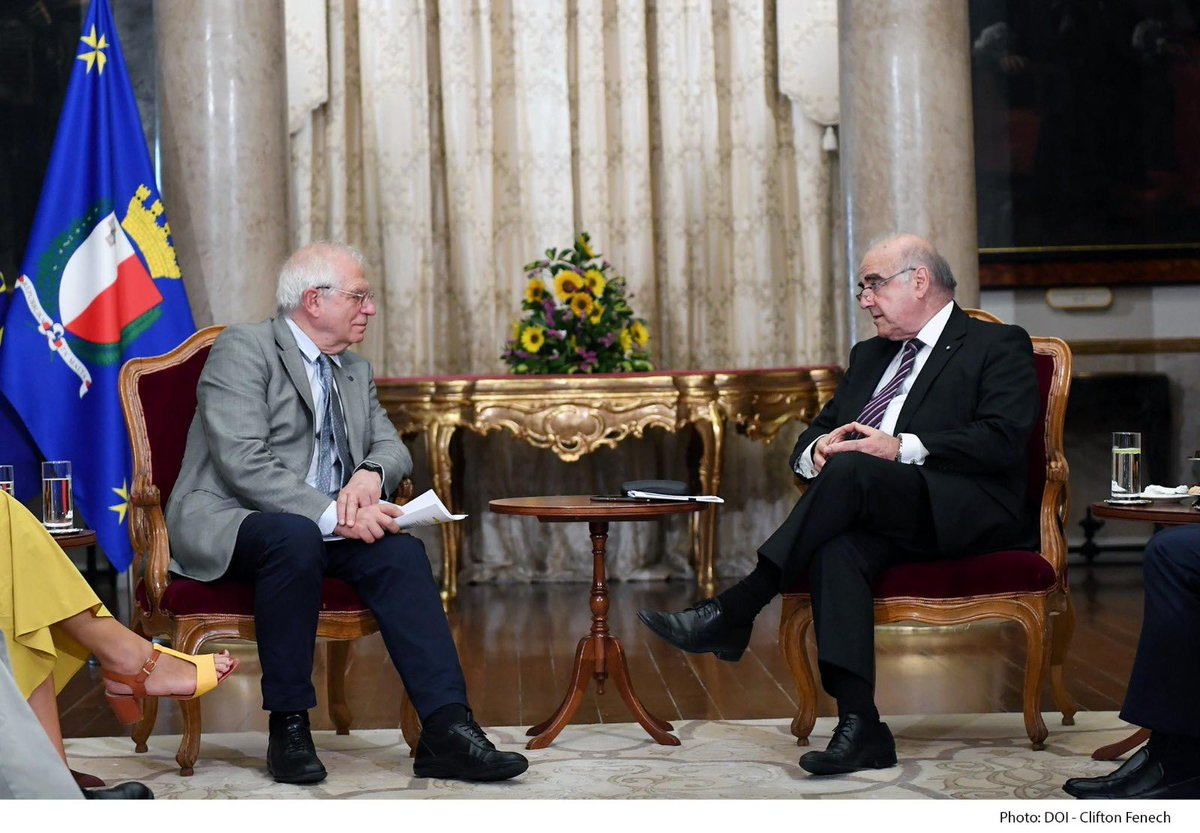 Earlier today I met H.E.Josep Borrell, High Representative of the European Union. We held very interesting exchanges on developments in the European Union's Southern Neighbourhood. When discussing migration, I stressed upon the need for solidarity with Malta from all EU partners. https://t.co/NLOL1Fm28l