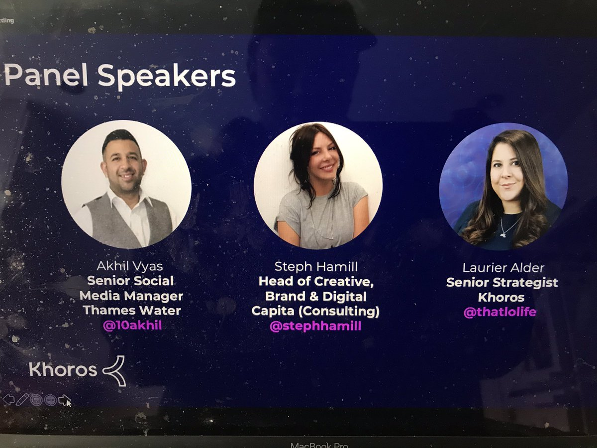 Nice work @khoros - great to see a panel event in MarTech with such a diverse panel! And led by the fantastic @NathalieNahai - I'm excited. Looking forward to it. @10akhil @stephhamill @thatlolife (yes, my screen needs a clean) https://t.co/TCOO7oFCFE