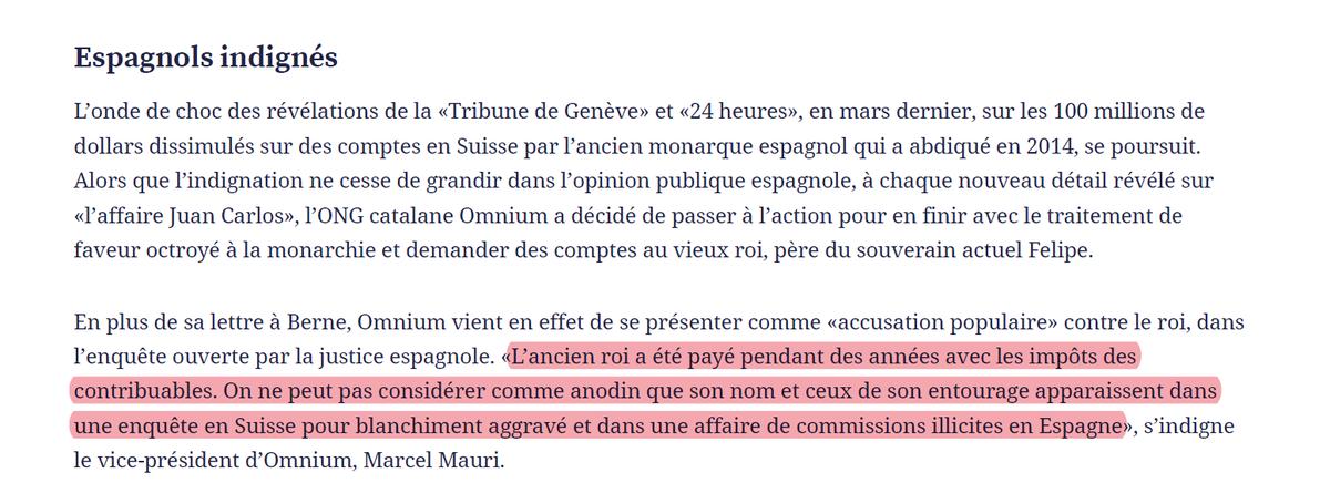 """🔴 @marcelmauri a @tdgch: """"El rei emèrit es va sostenir durant anys amb impostos dels contribuents. No podem normalitzar que el seu nom i el seu entorn apareguin en una investigació a Suïssa per blanqueig de capitals i en un cas de comissions il·legals a l'Estat espanyol"""" https://t.co/enmPAY4qBV"""